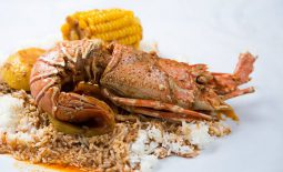 Lobster with corn